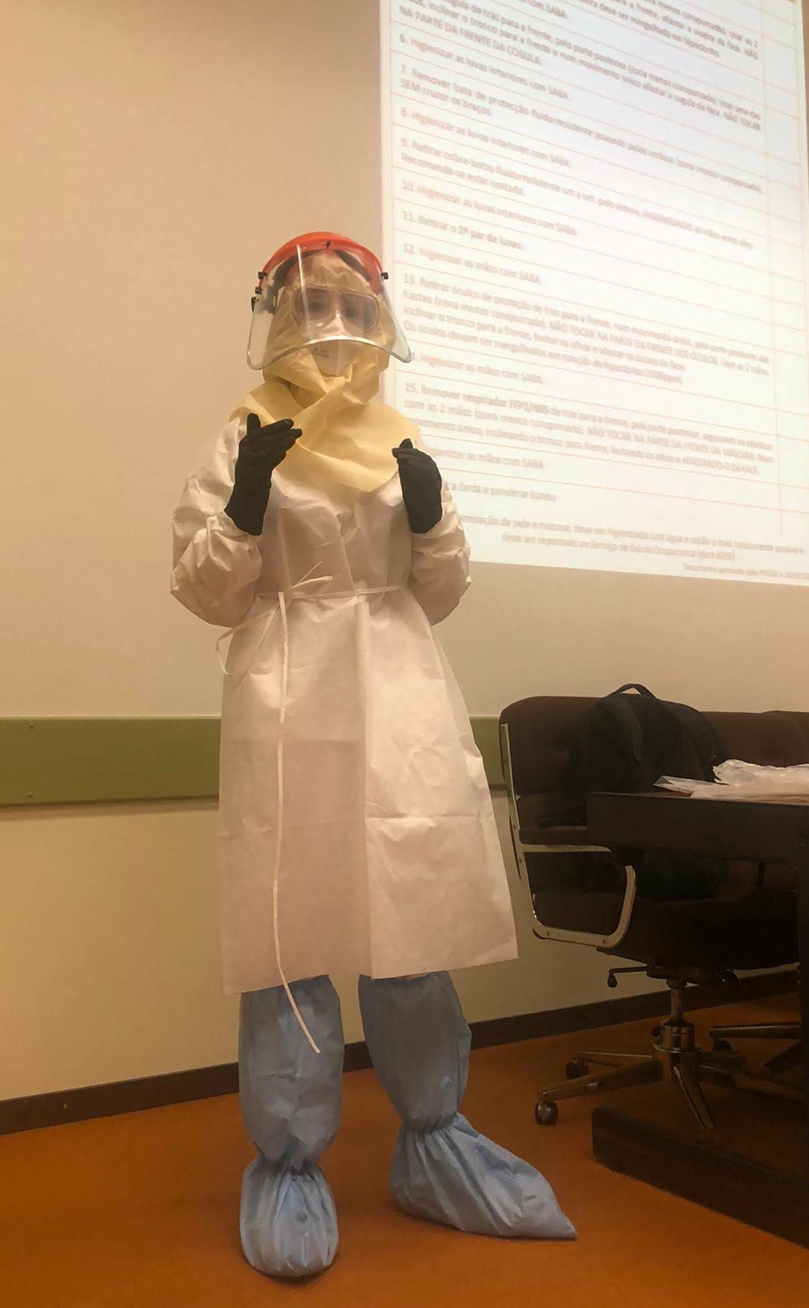 Use of PPE demonstration